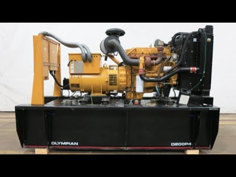Used Caterpillar D200P4 sel Generator, 219 Hrs on