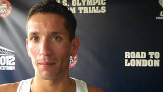 German Fernandez After Round 1 of 2012 1500m USA Olympic Trials