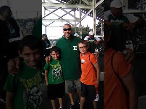 Charlie Batch with Xander and Conner.