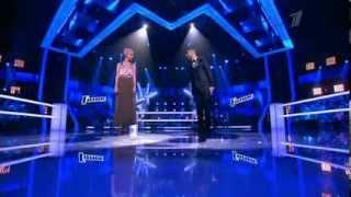 Артем Качарян и Алиса Гелисс - Georgia on my mind. Шоу голос первый канал.