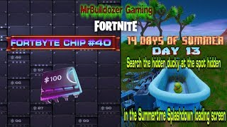 🔸🔹🔶🔷 Fortnite Season 9 Fortbyte #40 & Day 13 of 14 Days of Summer BOTH IN 1 VIDEO 🔷🔶🔹🔸