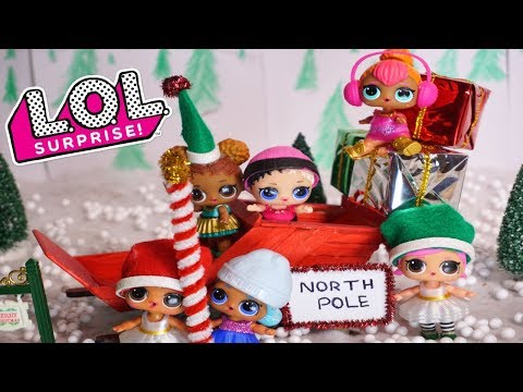 LOL SURPRISE DOLLS Adventure To The North Pol With Santa's Elves!