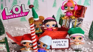 LOL SURPRISE DOLLS Adventure To The North Pol With Santa