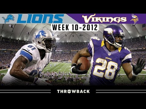 Calvin Johnson & Adrian Peterson DUEL! (Lions Vs. Vikings 2012, Week 10)