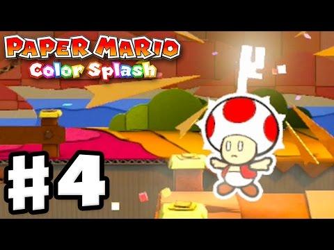 Paper Mario: Color Splash - Gameplay Walkthrough Part 4 - Cherry Lake 100%! (Nintendo Wii U)