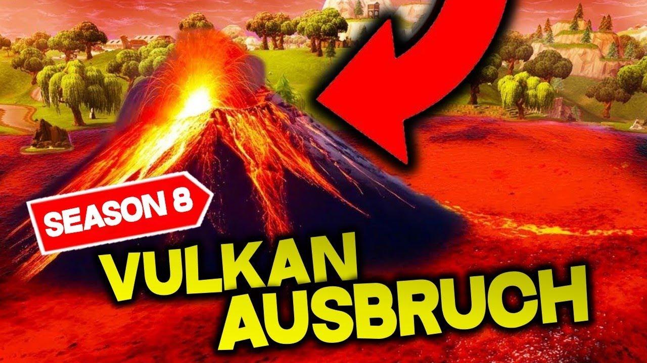fortnite season 8 vulcano live event - fortnite vulkan ausbruch