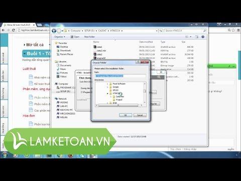 [Kê khai thuế - P36] Hướng dẫn cài đặt phần mềm HTKK - Lamketoan.vn