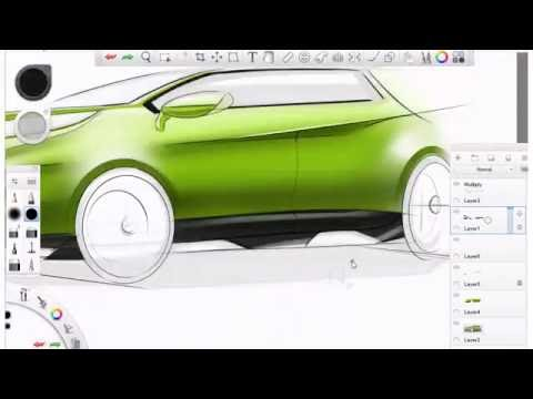 Car Design Sketching with Sketchbook Pro