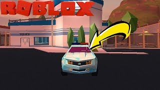 ROBLOX-HOW TO DRIVE A CAR AND SHOOT AT THE SAME TIME ON THE JAILBREAK (NEW BUG)