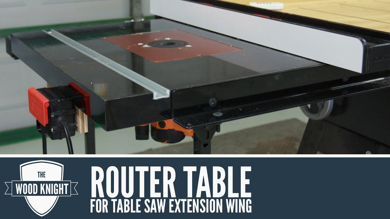 087 Router Table In A Saw Extension Wing