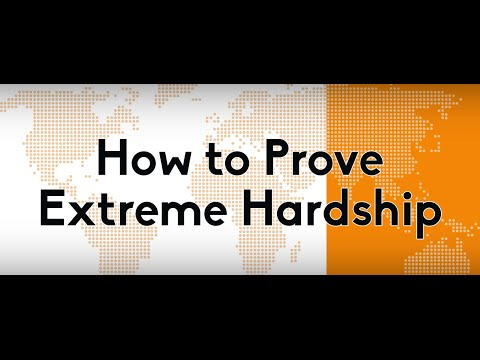 "How to Prove ""Extreme Hardship"" for an I 601 or I 601A immigration waiver"