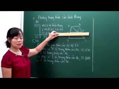 Toán lớp 8 - Đường trung bình của tam giac, của hình thang - Cô Bùi Thanh Bình [Hocmai.vn]