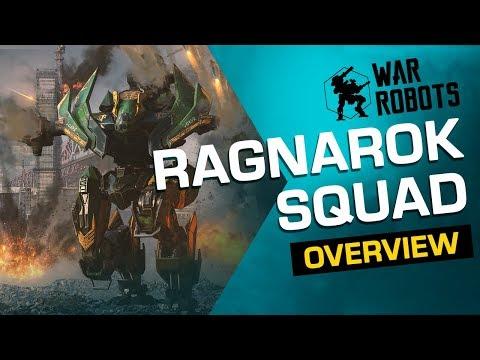 War Robots Overview: Ragnarok Squad [Tyr, Fenrir Loki] (new robots)