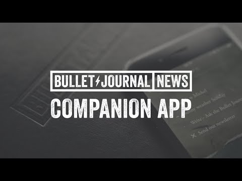 Bullet Journal Companion App