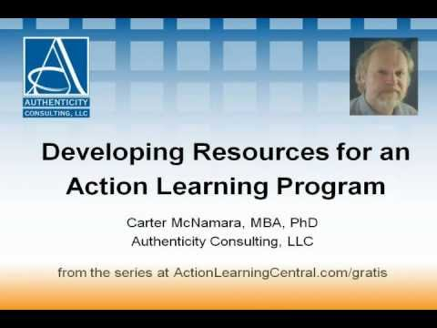 Developing Resources for an Action Learning Program (4 of 5)