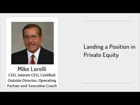 ExecuNet - Landing a Position in Private Equity