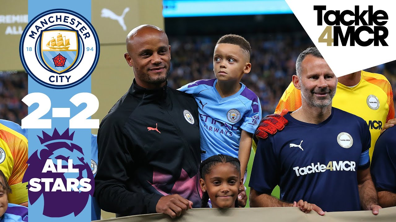 HIGHLIGHTS | Man City Legends 2-2 Premier League Allstars | Kompany Testimonial