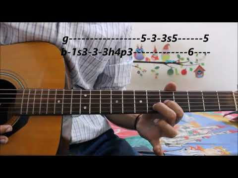 Most Romantic LOVE THEME 4 Every Beginner - Guitar lesson easy leads tabs