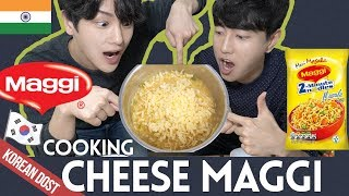 Koreans make Cheese Maggi Masala Noodle with Mayo | Indian Street Food | Dost Kitchen