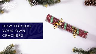 Christmas Wrapping | How To Make Your Own Christmas Cracker | Boots UK