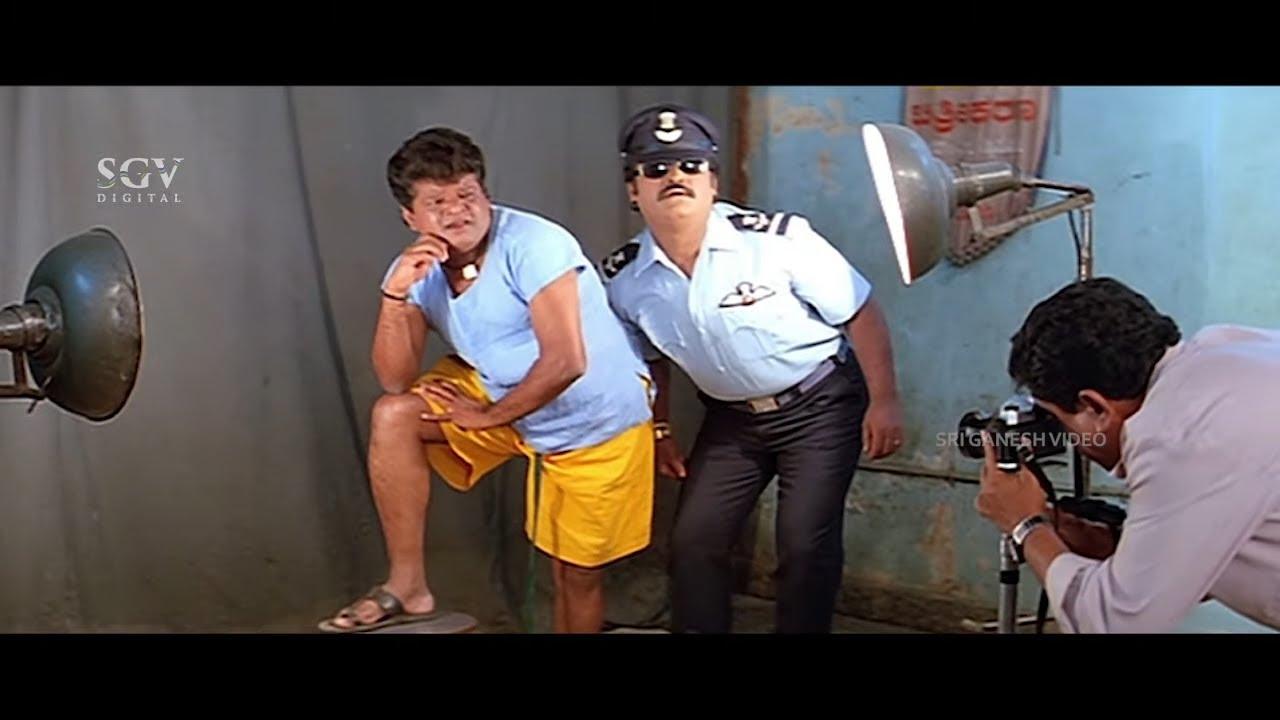 Tennis Krishna Showing Photo Pose to Jaggesh | Comedy Scene | Patela Kannada Movie