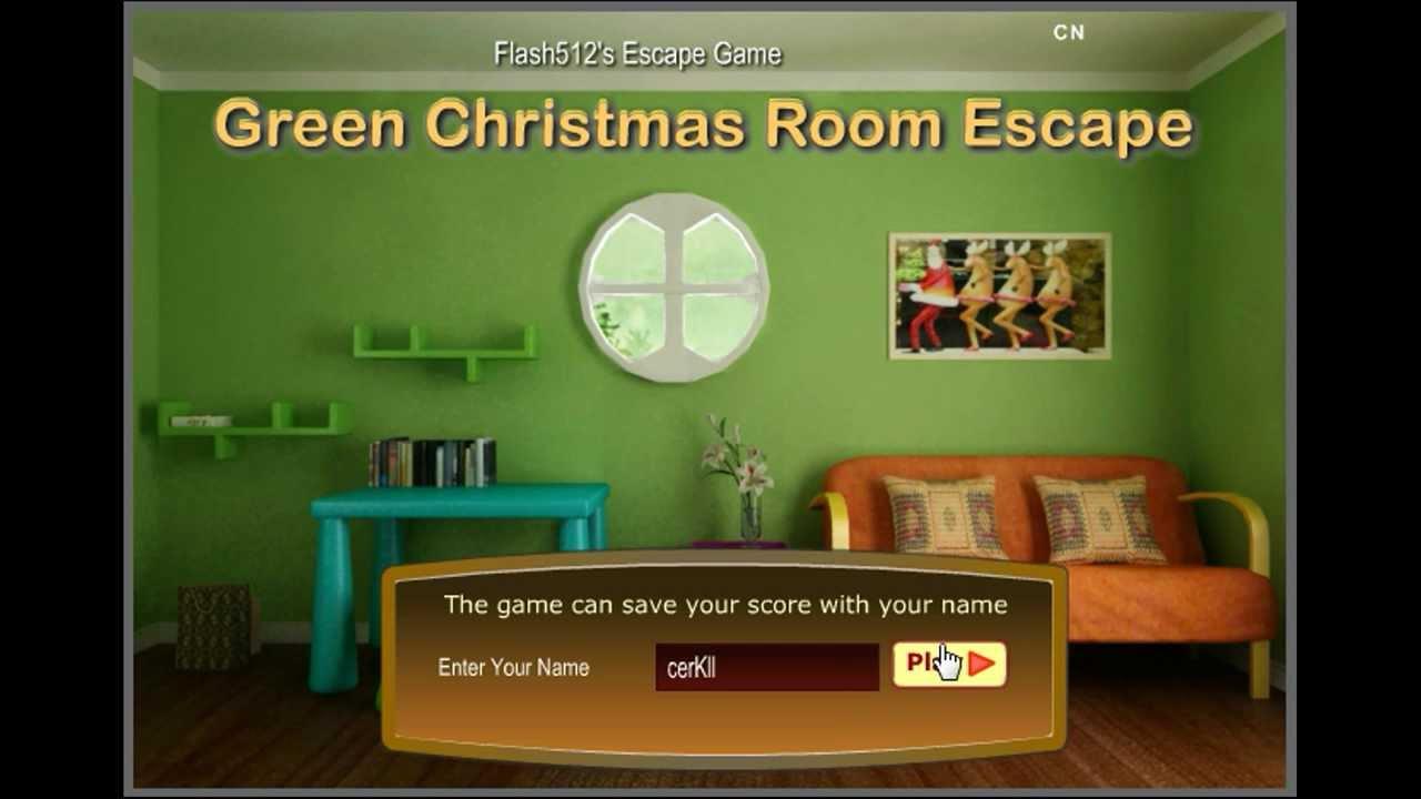 Flash512 39 s green christmas room escape walkthrough youtube for Small room escape 6 walkthrough