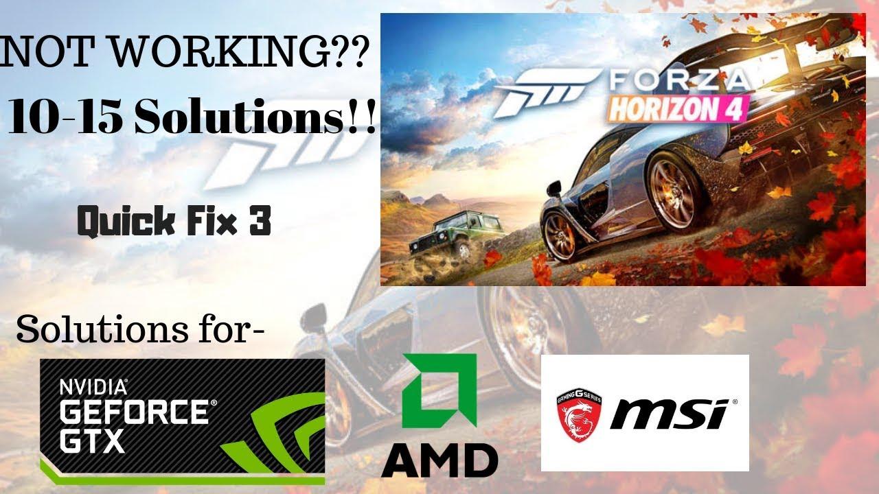 Forza 7 Not Launching Windows 10