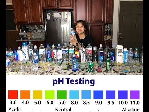 29 Different Brands of Bottle Water PH Test (2018)