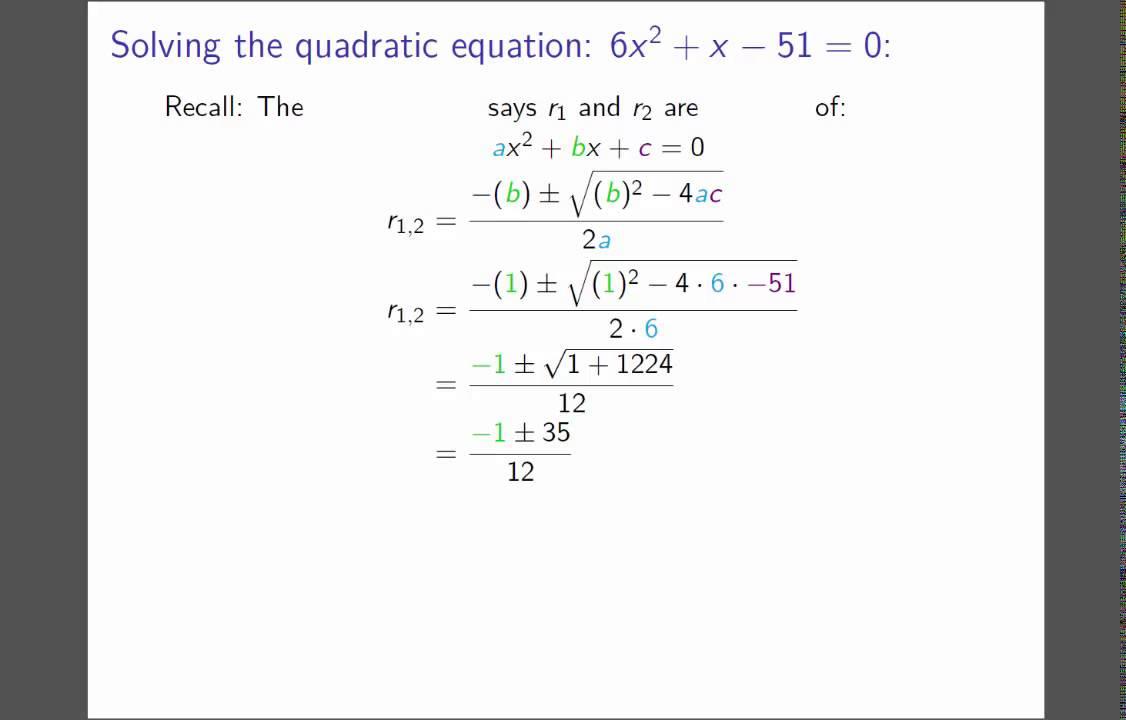 Solving Radical Equations Example 4 Quadratic Formula Youtube