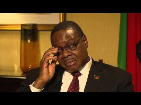 President  Prof Arthur Peter Mutharika Interview with VOA