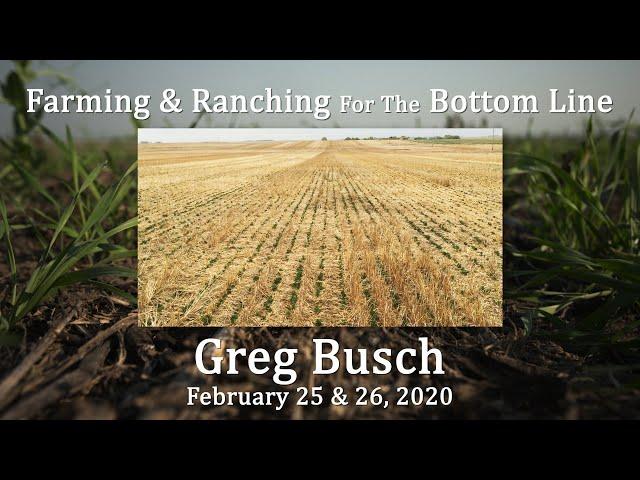 Greg Busch BSC Feb 2020