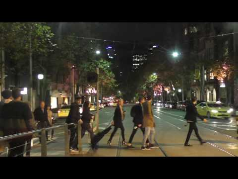 Melbourne Tram Driver View at Night - Route 48 Part 2 Melbourne CBD