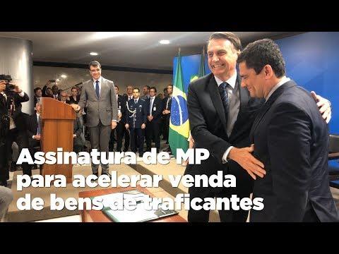 Bolsonaro e Moro assinam MP para acelerar venda de bens de traficantes