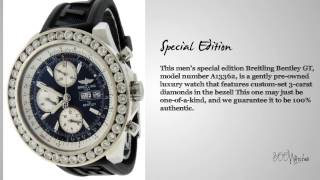 Breitling Bentley GT Special A13362 Stainless Steel Automatic Diamond Watch