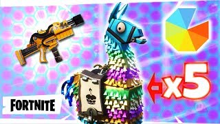 FORTNITE PvE : Limited Edition Giveaway Update ~ Surprise Hydra! ~ Opening my 5 Free B-day Llamas!