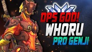 WHORU is a Genji God - KOREAN DPS! [ OVERWATCH SEASON 11 TOP 500 ]
