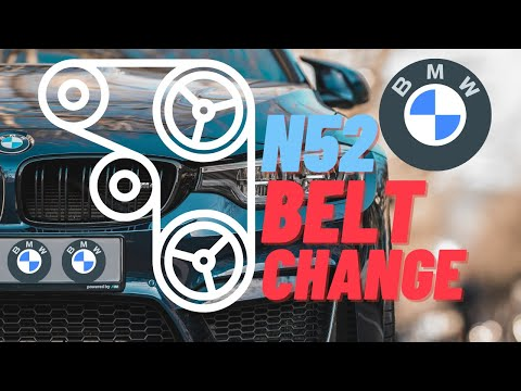 ▷️bmw e60 e61 serpentine belt tensioner replacement and diagram 525i 530i  530xi