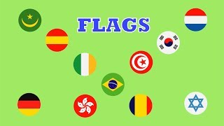 Famous countries and flags in the world kids learning video- I Am Kid- Learn Country Flags For Kids