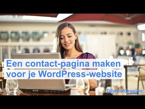 Een contact-pagina maken in WordPress