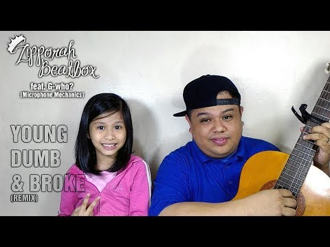 Father And Daughter Beatbox Version Of Young Dumb & Broke