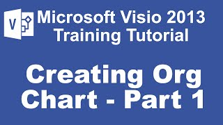 Microsoft Visio 2013 Training Tutorial - How to Create an Org Chart Using Visio 2013