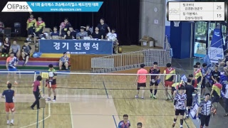 (팀코보터) 김경환/권준우 vs (팀 더블에스) 김성식/정상욱남복 30 A 1조[제1회 올리패스배 배드민턴 …