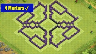 Clash Of Clans-Best Town Hall Level 8 Farming Base (The Hole) [4 Mortars/2014]