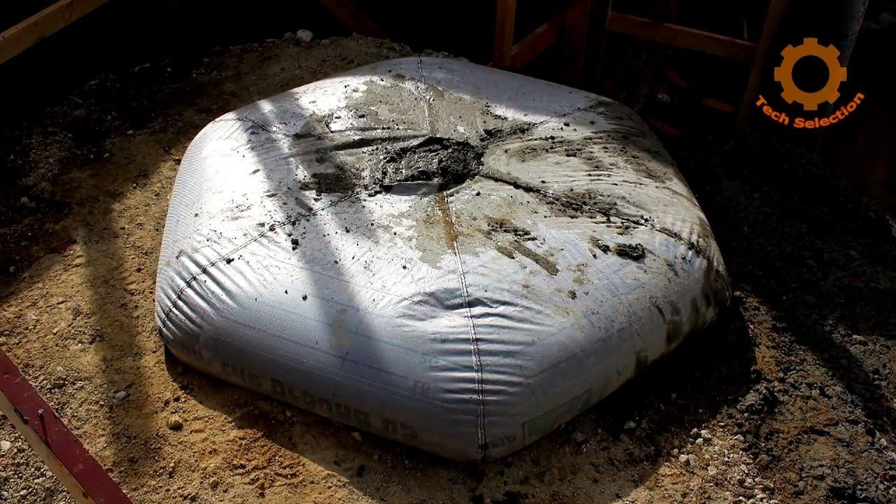 Как заливают бетон в мягкую опалубку