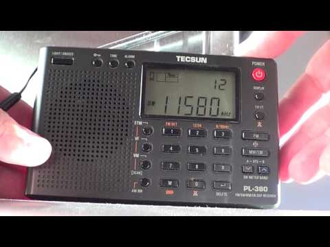 Tivdio V 115 VS Tecsun PL380 on Radio Ukraine 11580 Khz Shortwave