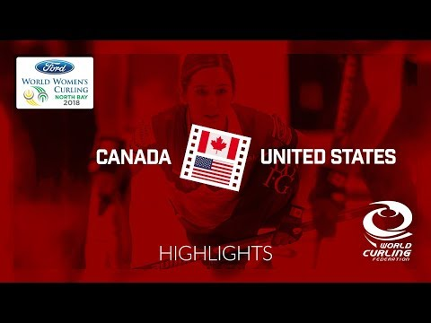 HIGHLIGHTS: Canada v United States – Round-robin – Ford World Women's Curling Championship 2018