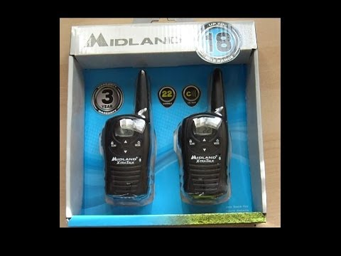 Midland Xtra Talk LXT118 GMRS/FRS Portable 2-Way Radio - Part 1 Unboxing