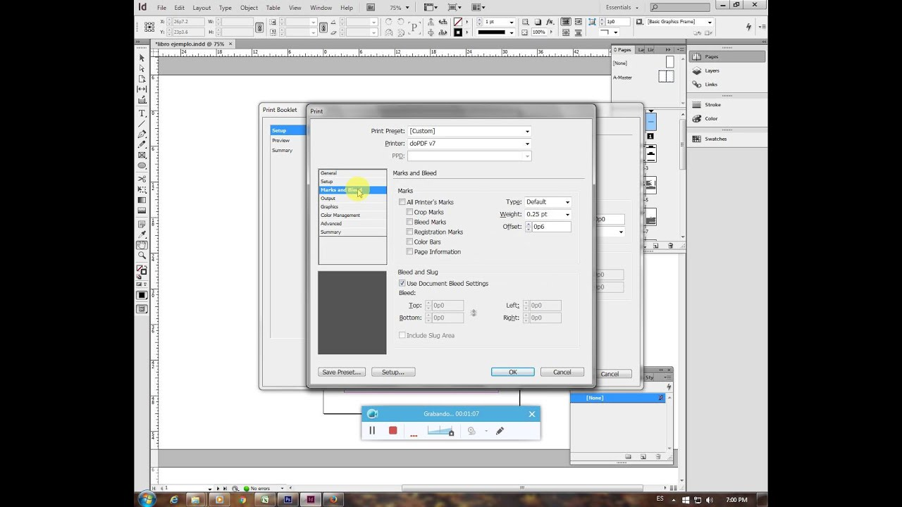 Libro Indesign Imposición De Páginas Para Libro En Indesign Youtube