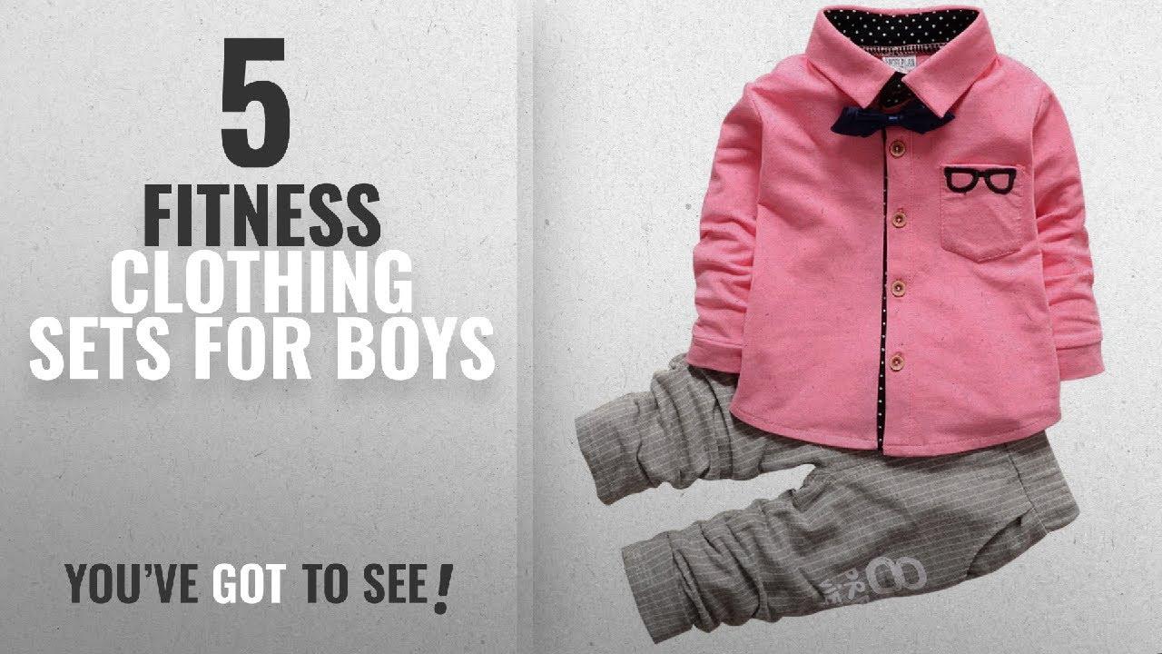 64b74feeb Top 10 Fitness Clothing Sets For Boys  2018   Taiycyxgan Baby Boys ...