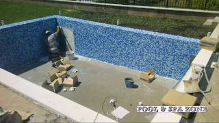 "Бассейн переливной ""Infinity"", керамика мозайка 2.5×2.5 made in Spain. Pool zone."